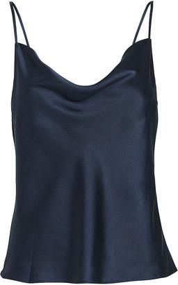 Intermix Fayette Cowl Neck Silk Camisole