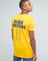 Asos Longline T-Shirt With Band Tour Back Print