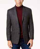Michael Kors Men's Classic-Fit Gray & Brown Windowpane Sport Coat