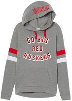 PINK University Of Nebraska Crossover Pullover Hoodie