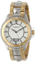 "Akribos XXIV Women's AK654TTG ""Impeccable"" Two-Tone Stainless Steel Bracelet Watch"