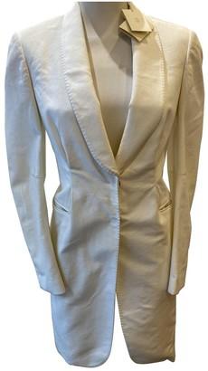 Brunello Cucinelli White Cotton Coat for Women