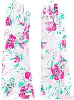 Prada floral print gloves