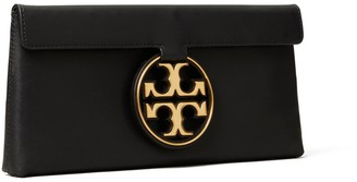 Tory Burch Miller Metal-Logo Clutch