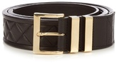 Balmain Quilted-leather Belt
