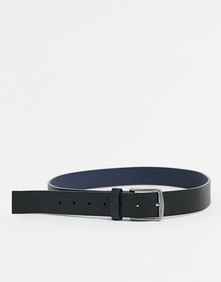 Ben Sherman detail belt in black