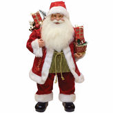 Asstd National Brand 24 Modern Santa Claus Figurine with Presents & Drum