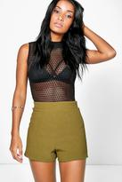 Boohoo Zoe Ribbed Texture High Waist Shorts