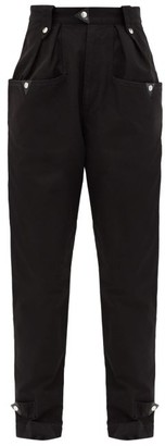 Etoile Isabel Marant Pulcie Tapered Cotton Trousers - Black