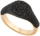 Swarovski 18K Rose Gold Plated Pave Black Crystal Ring - Size 6.75