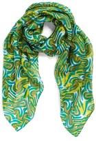 La Fiorentina Swirl Pattern Silk Scarf