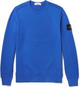 Stone Island Fleece-Back Cotton-Jersey Sweatshirt