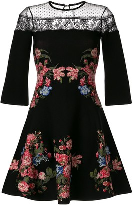 Ingie Paris Floral Flared Mini Dress