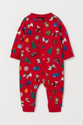 H&M Cotton Jersey Pajamas - Red