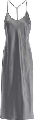 Alexander Wang Crinkled-satin Midi Slip Dress