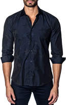 Jared Lang Men's Modern-Fit Stars Long-Sleeve Shirt
