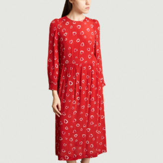 Tara Jarmon Red Heart Print Dress - 36