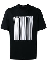 Alexander Wang barcode print T-shirt - men - Cotton - 44