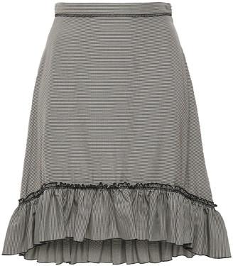 See by Chloe Ruffled Gingham Woven Skirt