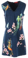 Rene Derhy V-Neck Floral Print Shift Dress