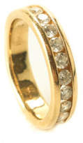 DESIGNER 18K Yellow Gold .75CT Diamond Half Channel Accent Band Ring Sz 6