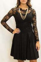 Charlotte Tarantola Black Pleated Skirt