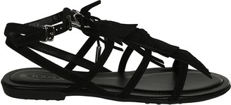 Tod's Tods Fringed Sandals