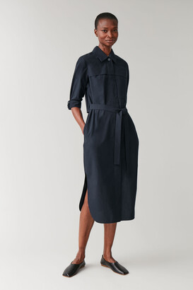 Cos Cotton-Lyocell Shirt Dress
