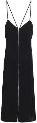 Rag & Bone Open-back Zip-detailed Twill Midi Dress