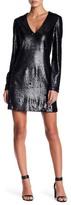 WAYF Skyline V-Neck Sequin Dress