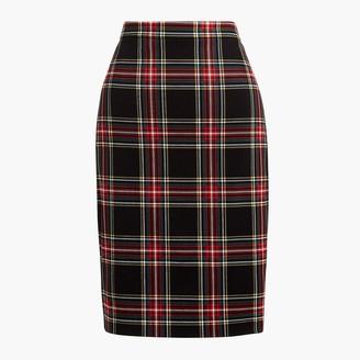 J.Crew Tartan cotton sateen pencil skirt