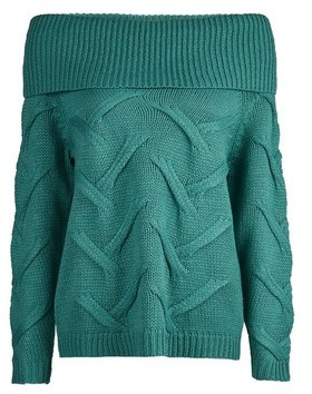 Dorothy Perkins Womens **Vila Blue Bardot Knitted Jumper, Blue