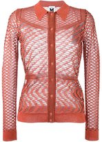 M Missoni crochet collared cardigan