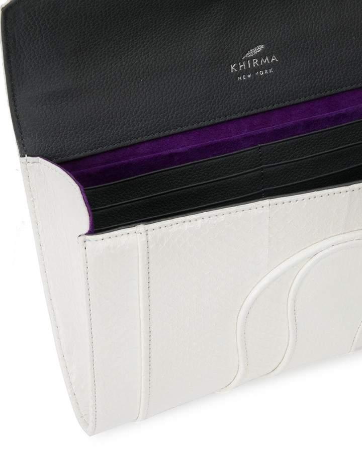 Khirma Eliazov panelled clutch bag