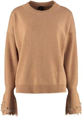 Pinko Coreano Long-sleeved Crew-neck Sweater