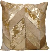 Kathy Ireland HomeTM Metallic Chevron Square Throw Pillow