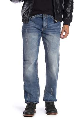Request Distressed Straight Jeans