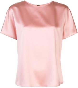 Adam Lippes Short-Sleeved Silk Blouse