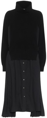 Sacai Turtleneck midi dress