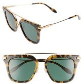 Sonix Women's Parker 50Mm Sunglasses - Caramel Tortoise/ Green Solid
