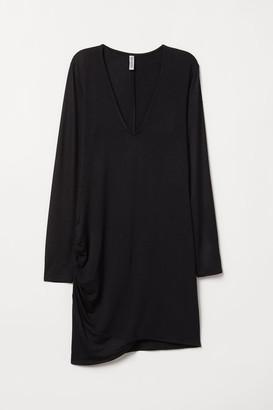 H&M Long-sleeved Dress - Black