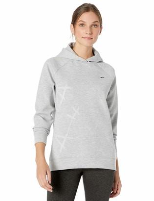 Lacoste Womens Sport Embossed Print Long Sleeve Hoodie Sweatshirt