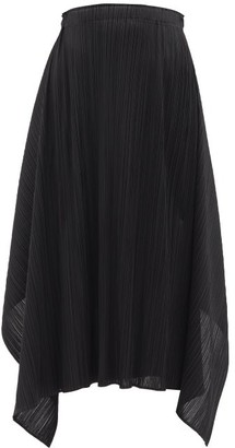 Pleats Please Issey Miyake Echo Technical-pleated Skirt - Black