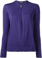 Salvatore Ferragamo single button cardigan - women - Silk/Cashmere - XL