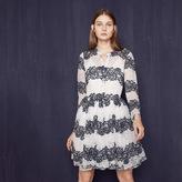 Maje Two-tone lace dress