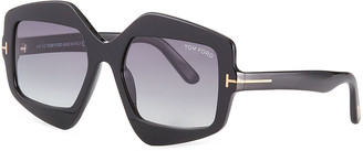 Tom Ford Tate Irregular Square Acetate Sunglasses