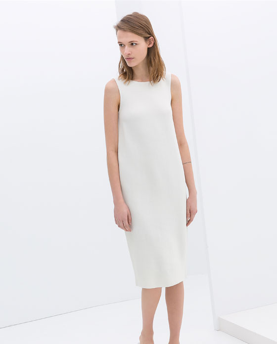 Zara Sleeveless Shift Dress