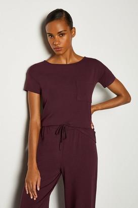 Karen Millen Short Sleeve Lounge Viscose T-Shirt