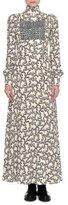 Valentino Chain-Print Sable Mock-Neck Dress