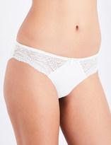 Simone Perele Eden Chic cotton and floral-lace bikini briefs